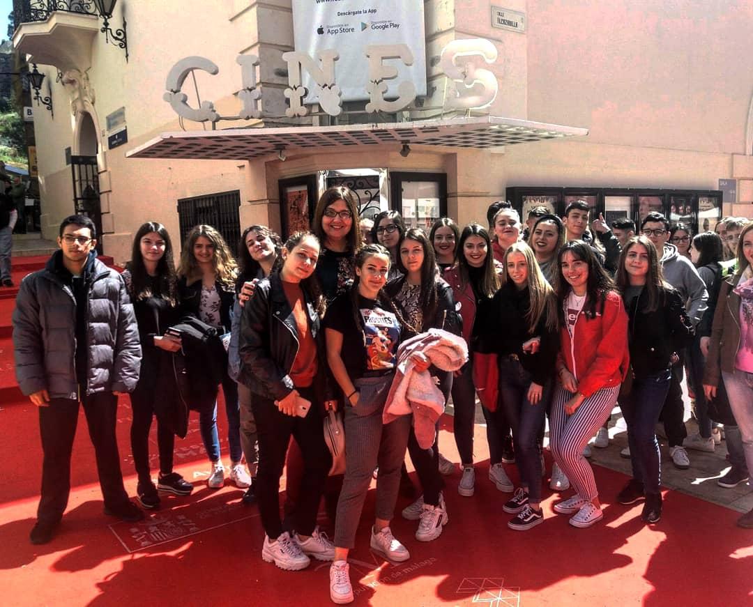 Alumnado de segundo de bachillerato en el Festival del Cine