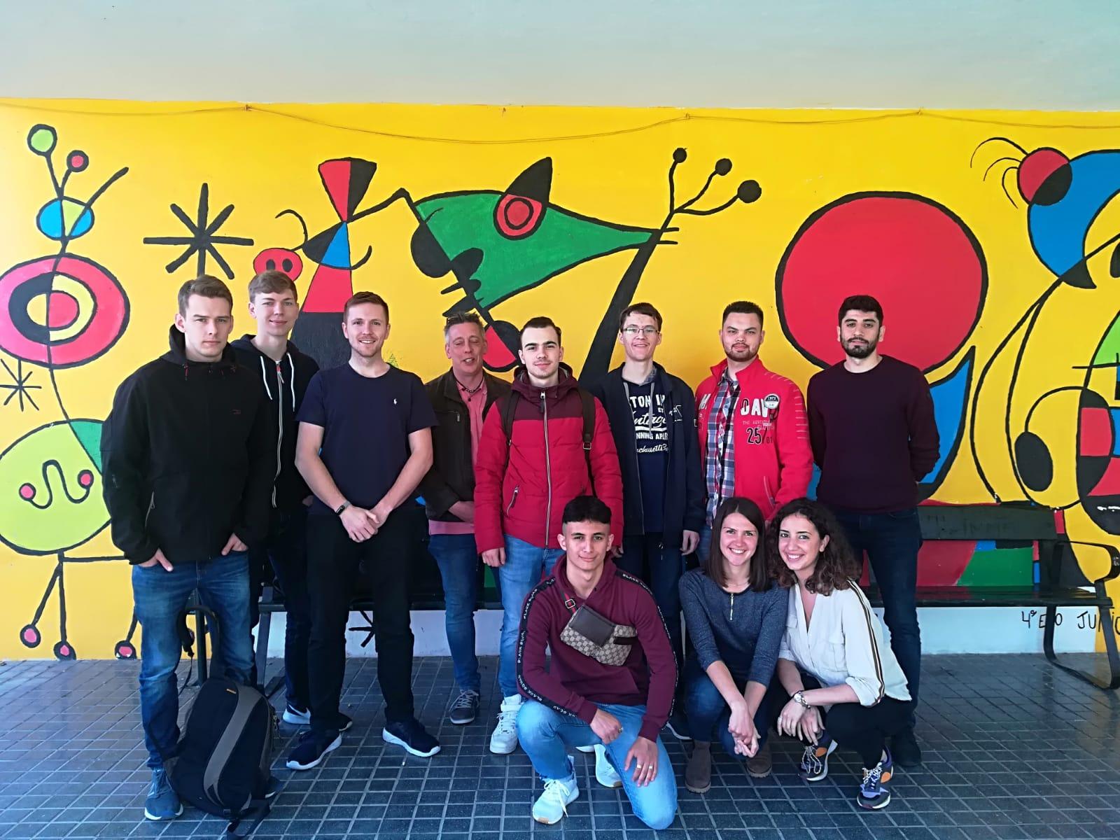 Recibimiento de alumnos alemanes
