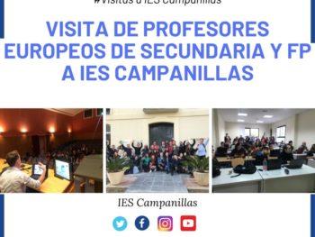 Visita de profesores europeos de secundaria y FP a IES Campanillas