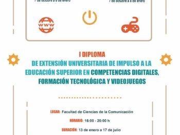 Curso Competencias Digitales, Formación Tecnológica y Videojuegos