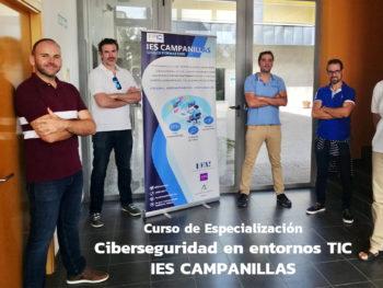 Adjudicación de plazas de Curso de Especialización en Ciberseguridad