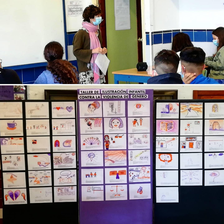 El taller de Ilustración contra la violencia de género