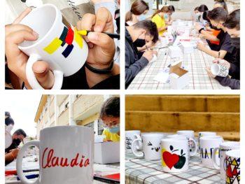 Genial el resultado del taller del decoración de tazas